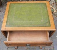 Small Light Mahogany Leather Top Coffee Table